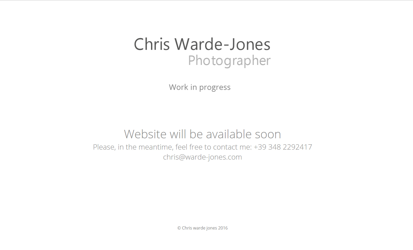 Chris Warde-Jones