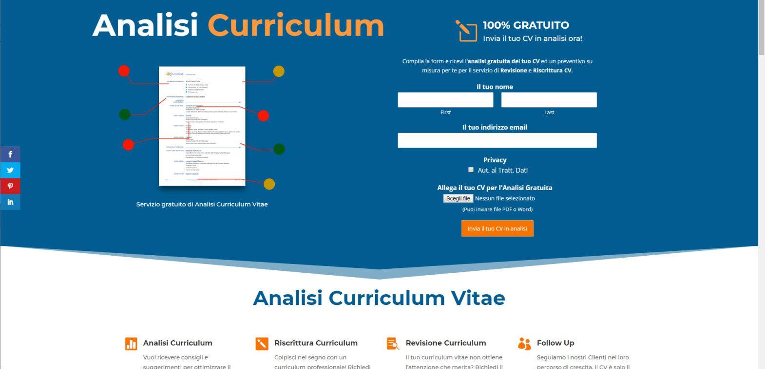 Analisi Curriculum